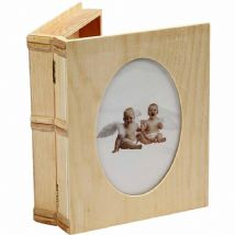 Wood Book Style Storage Box